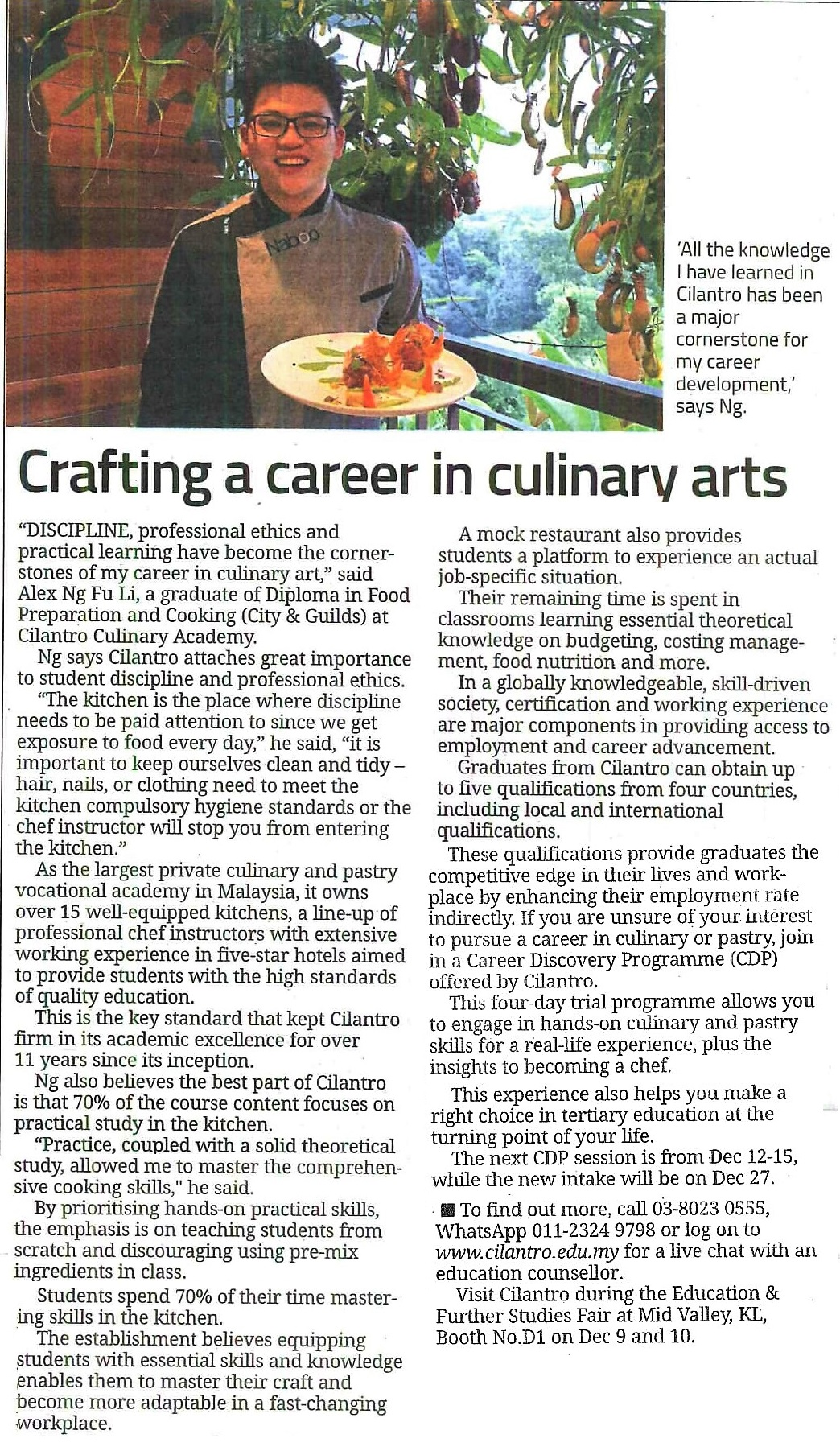 Crafting A Career in Culinary Arts